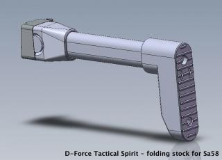 Sklopná pažba D-Force Tactical Spirit